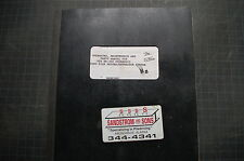 V20 HP-350 PILE DRIVER Operator Manual book operation guide owner MAINTENANCE