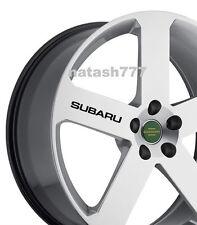 4 - SUBARU Sport  Racing Decal sticker emblem logo wheels rims BLACK