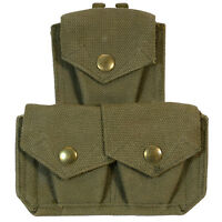 Genuine British 37 Pattern Webbing TRIPLE AMMO POUCH Army Issue Military Kit