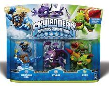 Skylanders Spyros Adventure Giants LIGHTNING ROD CYNDER ZOOK Triple Swap Force