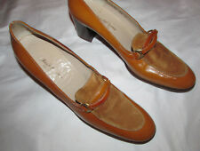 50's Saks Fifth Avenuefenton Last butterscotch patent / suede leather shoes 10 S