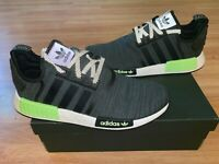 New Adidas Boost Nmd R1 Black Solar Slime Mens Size 12 & 13 Running Shoes F37065