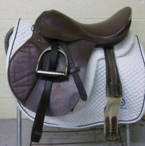 "GATSBY - English/Jumping SHOW Saddle TACK LOT -16 1/2"" -Leathers/Irons/Girth/Pad"