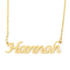Hannah Name Necklace Stainless Steel/ 18ct Gold Plated | Valentines Day