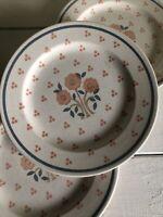 3 Royal China OHIO Vintage PEACH TREE Dinner Plate