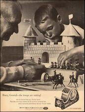 1960-Vintage Ad for Scotch Cellophane Tape`Castle horses little boy (121714)