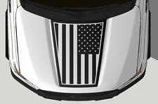 Vinyl Decal Wrap Kit fits 2015-2017 Ford F-150 Hood Graphic PATRIOT Matte Black