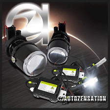 H3 Glass Lens Projector Fog Lights Driving Lamp+6000K HID Conversion Kit