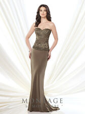 Authenic Montage by Mon Cheri 215906--Color: Cafe'--Size 14-Mother of the Bride