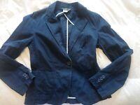 J. CREW Women's Blue Blazer/Jacket Size: small RN #77388 navy blue single button
