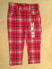 NEW w/tags - Baby Girls - Pants - Sz 18m - Plaid - Red/White/Black