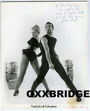 VANDYKE & VALENTINE SIGNED PHOTO 1960 Vaudeville Dance Duo Conga Carol & Leslie