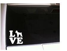 """Schnauzer Love 1 Dog vinyl car decal 6"""" P98 pets animals mini puppy breeder"""