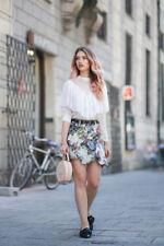 Zara Mini Skirt With Frill Size SMALL BNWT