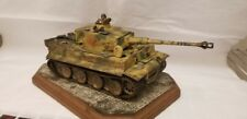 1/35 German Tiger I Built Painted w/Tank Commanders Crew 2 WWII Tamiya