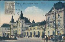 ROMANIA Timisoara St Elena railway station 1910s PC - nice stamp !