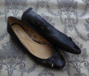 GEOX RESPIRA Damen Jugendliche Schuhe Slipper Ballerina Marine Gr.41/7,5