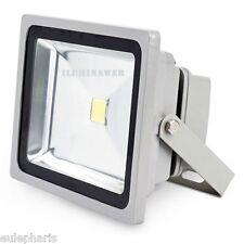 Foco proyector de exterior 30w LED COB,Luz Blanca 6400k,PLATA,IP65,Bajo Consumo