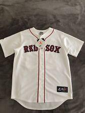 Kevin Youkilis #20 BOSTON RED SOX Majestic Baseball Jersey White Home Men's M