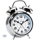 Atlanta 1647/19 Despertador Cuarzo Análogo Reloj DE Campana Doble Plateado