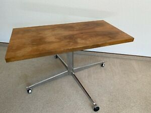 Design Coffee Table from The 70er Years / Chrome Frame/Iconic/Traces of Use