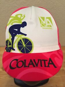 Castelli COLAVITA Cycling Cap One Size Red / Pink  NWOT