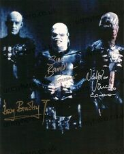 Hellraiser HAND SIGNED 10x8 CAST Photo Doug Bradley/Bamford/Vince *In Person*