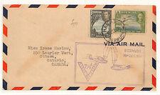 W56 1941 Bermuda kgvi FDC 7.5d Tasso PRIMO VOLO Copertura Canada {samwells-copre}