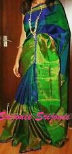 DESIGNER PARTY WEAR PURE SILK SARI  TISSUE  BORDER UPPADA SAREE & BLOUSE