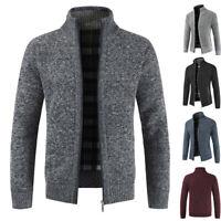 Men's Thicken Zipper Knitwear Coat Casual Pullover Sweater Winter Warm Overcoat