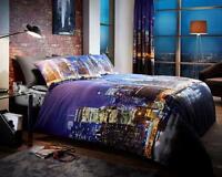 New York Night Life Duvet Cover Sets Quilt Cover Sets Reversible Bedding Sets