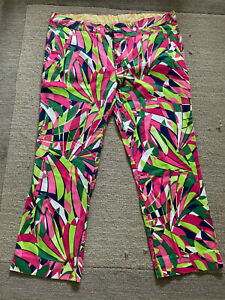 Loudmouth Golf Trousers - 40/29in - PINK & GREEN