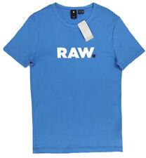 Men's G-STAR / G RAW Sea Blue Crew Neck T-Shirt Tee Shirt XXL NWT NEW Slim Wow!