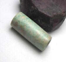 RARE GORGEOUS ANCIENT MAURITANIA AMAZONITE CYLINDER BEAD 9mm x 23mm