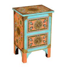 Orientalische Kommode Nachttisch Mango Massiv-Holz Schrank Sunita 40x30x60 cm