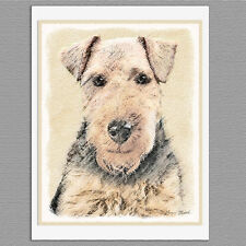 6 Welsh Terrier Dog Blank Art Note Greeting Cards