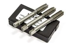 M18x1.5 HSS Taper, Second, Plug Metric Fine Tap Set German Made Volkel