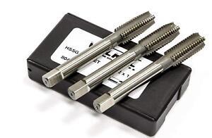 M8x1.25 HSS-G Taper, Second, Plug Metric Coarse 3 Piece Tap Set Volkel Germany