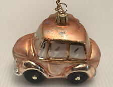 "Nordstrom Mercury Glass 3.5"" Volkswagen Beetle Car Christmas Ornament"