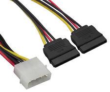 mumbi SATA Y-Stromkabel 12cm Verteilerkabel Adapter Stecker Festplatte Lüfter