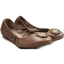 TORY BURCH ~ Royal Tan Leather ALLIE Ballet Flats Shoe 7.5 M NEW