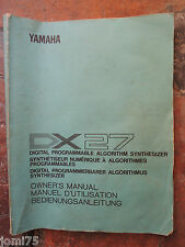 Original YAMAHA 80' DX100 DX 27 Owner manual UK English DE FR