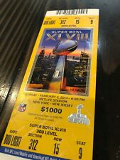 2014 Super Bowl XLVIII Seattle Denver Full Ticket Yellow *2 Tickets Available*