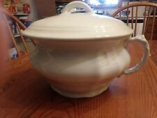 White Ceramic Chamber Pot With Lid  Royal Ironstone China Johnson Bros, England