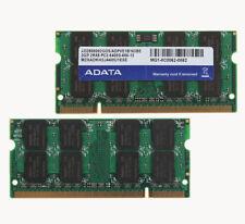 Adata Kit 4GB 2X 2GB PC2-6400S DDR2-800Mhz Sodimm RAM Laptop Memory For Intel