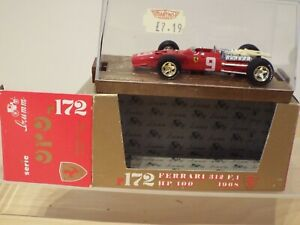 1/43 Scale Brumm Oro Diecast R172 Ferrari 312 F1 1968 No 9, MINT Model, Box vvg
