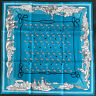 """Hermes scarf CARRE """" Les Canyons Etoiles """"  blue"""