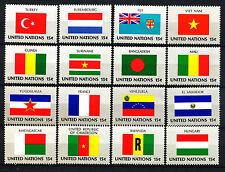 VN/UNO New York 316 - 331 postfris   Vlaggen