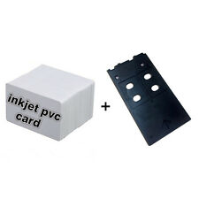 CSF Inkjet PVC Card Starter Kit - 10 Inkjet ID Card+1 Card Tray for Canon G