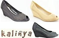 Kalinya Comfort peep toe Wedges Kalinya Shoes Dallas